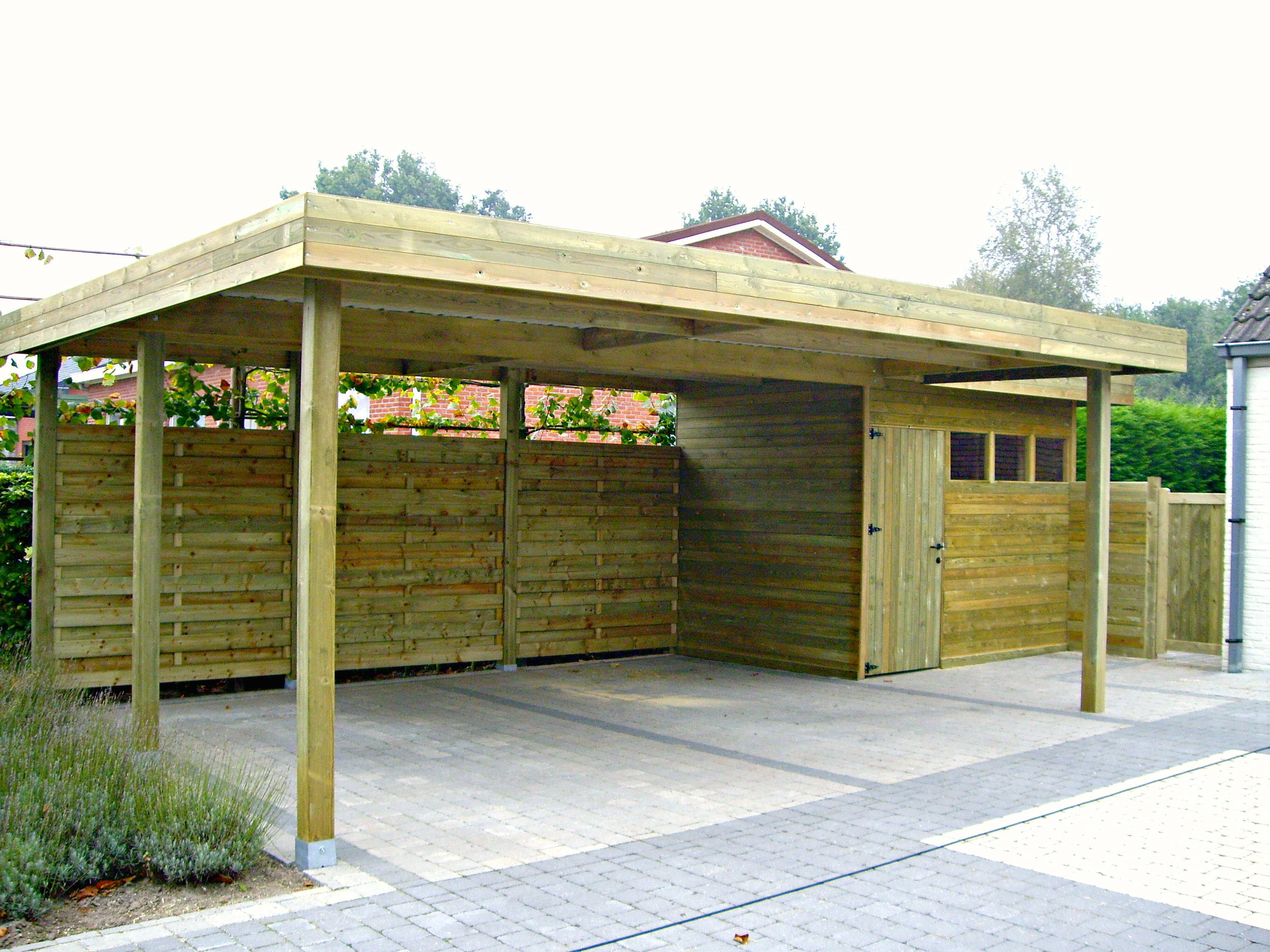 Carports garages alfa construct for Carport garages