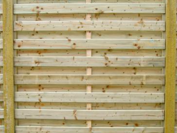 Tuinscherm in geïmpregneerd hout