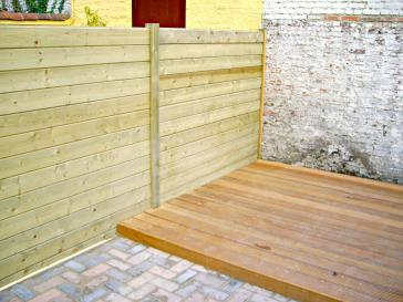 Aanleggen houten terras