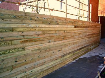 Modern houten tuinscherm